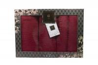 4er-SET - Premium HANDTÜCHER inkl.Geschenkset – 2 x Duschtuch + 2 x Handtuch - 100% Baumwolle Bordeaux