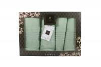 4er-SET - Premium HANDTÜCHER inkl.Geschenkset – 2 x Duschtuch + 2 x Handtuch - 100% Baumwolle Mint