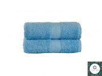 Premium HANDTÜCHER – 2er Set (50 x 100 cm) - 100% aus feiner Baumwolle - 550 g/m² - Frottee Hellblau