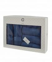 Cavar HOME - Handtuchset – 6er Set – 4 x Handtücher + 2 x Duschtücher /100% Baumwolle Navy