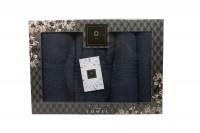 4er-SET - Premium HANDTÜCHER inkl.Geschenkset – 2 x Duschtuch + 2 x Handtuch - 100% Baumwolle Anthrazit