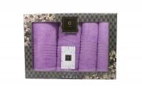 4er-SET - Premium HANDTÜCHER inkl.Geschenkset – 2 x Duschtuch + 2 x Handtuch - 100% Baumwolle Purple