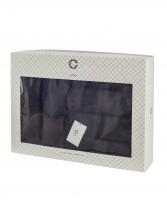 Cavar HOME - Handtuchset – 6er Set – 4 x Handtücher + 2 x Duschtücher /100% Baumwolle Schwarz