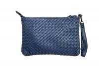 CavoirBag-Valentina- damen handtasche,clutch aus leder(BLAU)